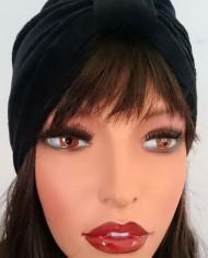Turban – Sort Velour – Trend – Hat – Skræddersyet 1