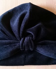 Turban – Sort Velour – Trend – Hat – Skræddersyet