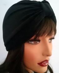 Turban – Sort Velour – Trend – Hat – Skræddersyet 3