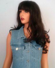 90'er kjole – Denim – Gennemknappet – Retro – Genbrug – Trend – Nærbillede