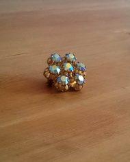 Broche – Simili – Ab crystal – Mulitcolor – Vintage – Genbrug – Trend 1