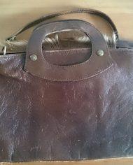 Brun lædertaske bag
