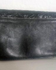 Retro – Clutch – Pung – Læder – Quilt – Sølv- Genbrug – Trend – Bagfra
