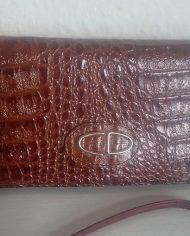 Vintage – Skulderttaske – Crossbody – Imiteret læder – Krokodille – Brun – Genbrug – Trend 1