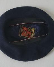 Barét – Uld – Fransk – Mørkeblå – Klassisk – Vintage – Genbrug – Trend – Mie Arida – indeni