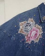 Skjorte – Denim – Aplikationer – 80'erne – Oversize – Retro – Genbrug – Trend – Mie Arida – Nærbillede – 1