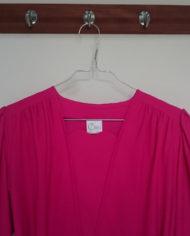 Kjole – Festlig – Pink – Retro – Genbrug – Trend – Mie Arida- Nærbillede