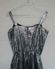 Selskabskjole – Sølv – 80'erne – Retro – Genbrug – Trend – Mie Arida – Bagfra