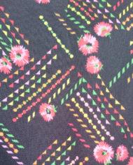 Kjole – Hjemmesyet – 70's – Mønster – Retro – Genbrug – Trend – Mie Arida – Nærbillede