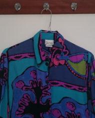 Skjorte – 80's – Multifarvet – Retro – Genbrug – Trend – Mie Arida – Forfra 2