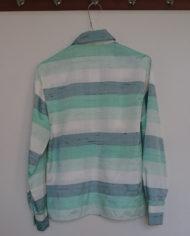 Skjorte – Vandret Striber – Pastel – Silke – Retro – Genbrug – Trend – Mie Arida – Bagfra