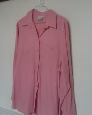 Skjorte – Lyserød – Oversize – 80'erne – Vintage – Genbrug – Trend – Mie Arida – Siden