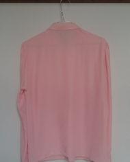 Skjorte – Pastel – Lyserød – Skjult lukning – Pufærmer – 80'erne – Vintage – Genbrug – Trend – Mie Arida – Bagfra