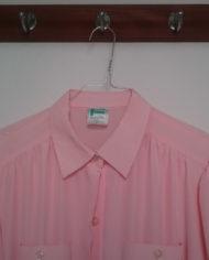 Skjorte – Pastel – Lyserød – Skjult lukning – Pufærmer – 80'erne – Vintage – Genbrug – Trend – Mie Arida – Detaljer 2