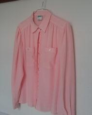 Skjorte – Pastel – Lyserød – Skjult lukning – Pufærmer – 80'erne – Vintage – Genbrug – Trend – Mie Arida – Siden