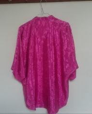 Skjorte – Pink – Oversize – Mønster – 80'erne – Vintage – Genbrug – Trend – Mie Arida – Bagfra
