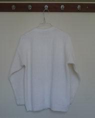 Strik – Cardigan – Hvid – Mønster – Vintage – Genbrug – Trend – Mie Arida – Bagfra