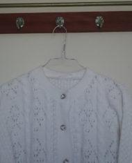 Strik – Cardigan – Hvid – Mønster – Vintage – Genbrug – Trend – Mie Arida – Detaljer