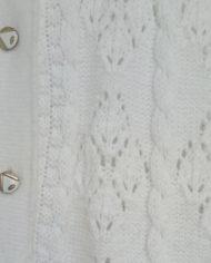 Strik – Cardigan – Hvid – Mønster – Vintage – Genbrug – Trend – Mie Arida – Detaljer 2