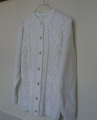 Strik – Cardigan – Hvid – Mønster – Vintage – Genbrug – Trend – Mie Arida -Siden
