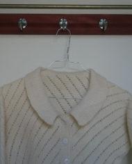 Strik – Cardigan – Råhvid – Mønster – Vintage – Genbrug – Trend – Mie Arida – Detaljer