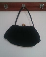 Taske – Sort – Plisse – Vintage – Genbrug – Trend – Mie Arida – Forfra3