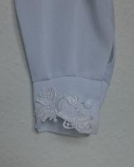 Skjorte – Crepe – Blonde – 80's – Vintage – Genbrug – Trend – Mie Arida – Detalje