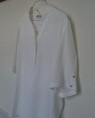 Skjorte – Korte ærmer – Blonde – Perlmors knapper – Vintage – Genbrug – Trend – Mie Arida – Siden