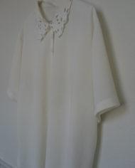Skjorte – Korte ærmer – Blonde – Vintage – Genbrug – Trend – Mie Arida – Siden