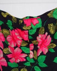 Nederdel – A-facon – Blomstret – 80's – Retro – Genbrug – Trend – Mie Arida – Detalje