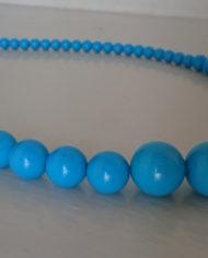 Halskæde – Plastik – Perler – Turkis – Retro – Genbrug – Trend – Mie Arida – For