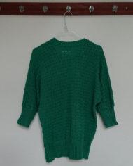 Sweater – Mønsterstrik – Flagermusærmer – 80's – Retro – Genbrug – Trend – Mie Arida – Bagfra