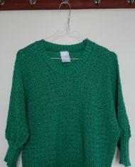 Sweater – Mønsterstrik – Flagermusærmer – 80's – Retro – Genbrug – Trend – Mie Arida -Detaljer