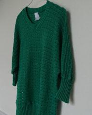 Sweater – Mønsterstrik – Flagermusærmer – 80's – Retro – Genbrug – Trend – Mie Arida -Siden
