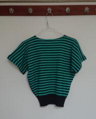 Sweater – Stribet – Flagermusærmer – 80's – Retro – Genbrug – Trend – Mie Arida – Bagfra