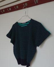 Sweater – Stribet – Flagermusærmer – 80's – Retro – Genbrug – Trend – Mie Arida – Siden