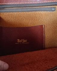 Taske – Læder – Cognac – Bel Sac – 70's – Vintage – Genbrug – Trend – Mie Arida – Indeni