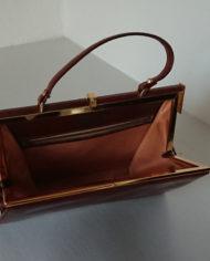 Taske – Læder – Cognac – Bon Gout – 60's – Vintage – Genbrug – Trend – Mie Arida – Indeni