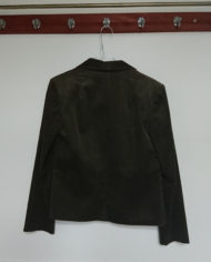 Jakke – Blazer – Bredriflet – Fløjl – Armygrøn – 70's – Retro – Genbrug – Trend – Mie Arida – Bagfra