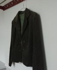 Jakke – Blazer – Bredriflet – Fløjl – Armygrøn – 70's – Retro – Genbrug – Trend – Mie Arida – Siden