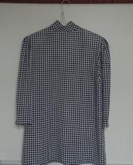Skjorte – Hanefjed – Sort og Hvid – 80's – Vintage – Genbrug – Trend – Mie Arida – Bagfra