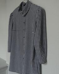 Skjorte – Hanefjed – Sort og Hvid – 80's – Vintage – Genbrug – Trend – Mie Arida – Siden