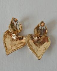 Øreclips – Guld – Hjerte – Perle – 80's – Vintage – Genbrug – Trend – Mie Arida – Bagfra
