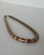 Halskæde – Metal Perler – Messing – Kobber – Retro – Vintage – Genbrug – Trend – Mie Arida – Forfra 2