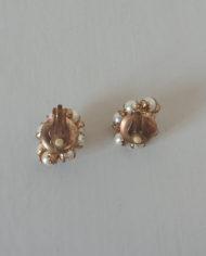 Øreclips – Guld – Perler – Chunky – Vintage – Retro – Genbrug – Trend – Mie Arida – Bagfra