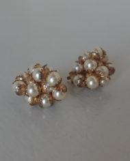 Øreclips – Guld – Perler – Chunky – Vintage – Retro – Genbrug – Trend – Mie Arida – Nærbillede