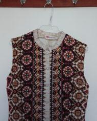 Kjole – Hellang – Gennemknappet – Print – Hippie – Retro – Vintage – Genbrug – Trend – Mie Arida – Nærbillede