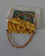 Taske – Bambushåndtag – Uld – Broderi – Forår – Vintage – Genbrug – Upcycled – Trend – Mie Arida – Indeni