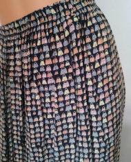 Småmønstret nederdel – Tasker – Multifarvet – Retro – Genbrug – Trend – Nærbillede