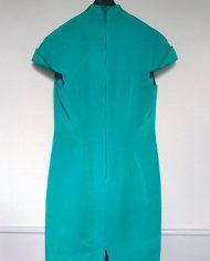 kina-inspireret-kjole-jadegroen-cocktailkjole-genbrug-trend-bagfra